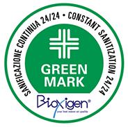 Green Mark Sanificazione continua 24/24 - Constant sanitization 24/24 | Bioxigen